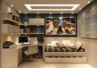 75 Cozy Apartment Bedroom Makeover Decor Ideas - New Sites Single Bedroom, Cozy Apartment, One Bedroom Apartment, Bedroom Office, Home Office Design, Office Style, Home Bedroom, Bedroom Ideas, Bedrooms