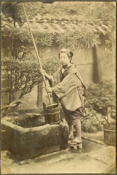 Woman at the well, Japan.