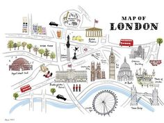 Illustrated Map of London