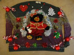 woman's plus size 3X 4X ugly christmas sweater teddy bear tacky snowman lights up by keriblue4 on Etsy