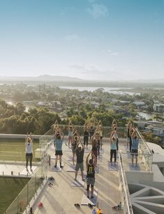 How we wind down on our Noosa Escapes, yoga on the roof and sunset.  #sunsetyoga #noosa #australia #fitnessretreat