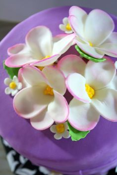 Gumpaste flowers #gumpasteflowers#pink#