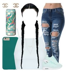 You say why; I say why not? by myra-moore on Polyvore featuring polyvore, fashion, style, Topshop, NIKE, Chanel, Forever 21 and Arizona