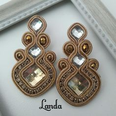 Earrings Handmade, Belts, Stitching, Embroidery, Diy, Jewelry, Fashion, Soutache Jewelry, Purses