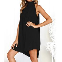 079dd6df336 Maternity Outfits - comfortable maternity dresses   Funic DressesWomens  Holiday Irregular Dress Ladies Summer Beach Loose Sleeveless Party Dress  Black     ...