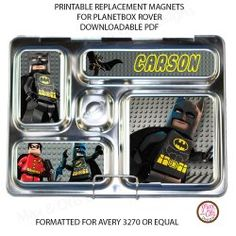 #PlanetBox Rover Magnets - Lego Batman custom design replacement magnets