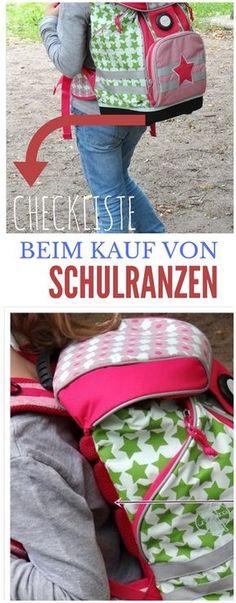 Checkliste bei Kauf von Schulranzen - was muss du beim Kauf von Schulranzen beachten? 10 Punkte Plan! Schule - Grundschule - Sschulkinder - Kinder