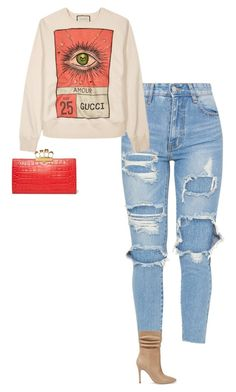 """""""Untitled #341"""" by sb187 ❤ liked on Polyvore featuring Gucci, Halston Heritage and Alexander McQueen"""