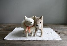 Adorable handmade softies by Every Eskimo on etsy.