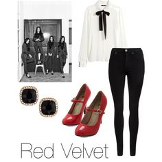 Inspired Red Velvet's Be Natural MV Outfit by proffesionaldaydreamer on Polyvore featuring polyvore, fashion, style, H&M, Dr. Denim and Fragments
