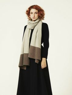 fine stripe end shawl