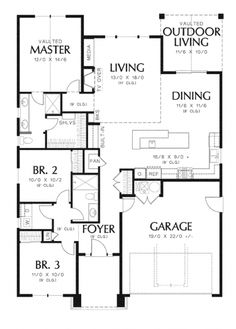 Home Plans HOMEPW76491 - 1,529 Square Feet, 3 Bedroom 2 Bathroom Craftsman Home with 2 Garage Bays