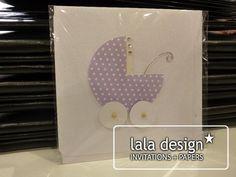 Handmade new born card