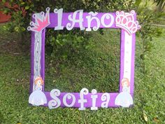 Sofia the first photo frame cuadro tematico made by Thelma Villa