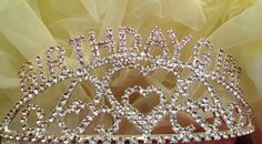 pink and rhinestone birthday | Birthday Girl Pink White Rhinestone Headband Crown | eBay
