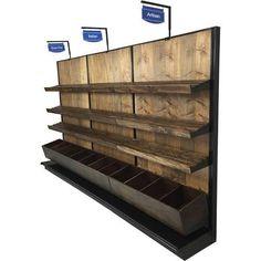 rustic wood retail store displays - Google Search