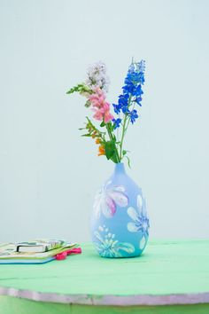 Painted vase by Ariadne at Home