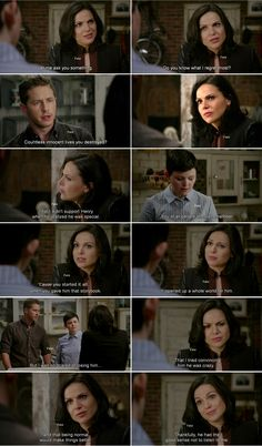 """Do you know what I regret most?"" Regina, ""Countless innocent lives you destroyed. "" David and Mary Margaret - 4 * 8 ""Smash the Mirror."""