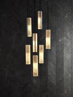 Silo Single Pendant in Bianco Carrara Marble by David Lopez Quincoces for Salvatori for sale at Pamono Brass Lamp, Pendant Lamp, Pendant Lighting, Decoration Design, Deco Design, Modern Lighting, Lighting Design, Office Lighting, Lampe Tactile