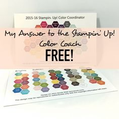 Miss the Stampin' Up! Color Coach? Get this tool from me instead. Free Download! Click through for details! @PMRetreat #stampinup #colorcoach #colorcoordinator
