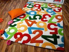 Popular Lifestyle Kinderteppich Crazy Numbers in Gr en Sofort Lieferbar online kaufen bei