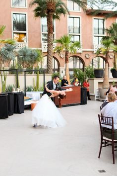 Westin Lake Las Vegas Wedding, first dance, outdoor wedding reception in Las Vegas, Lotus Court wedding