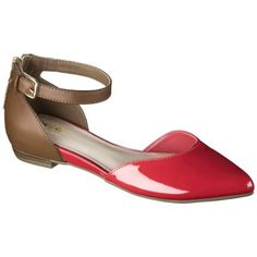 Women's Mossimo® Veronica Ankle Strap D'Orsay Two Piece Flats -Buy them in a couple of colors and spray paint then what ever color you need. They are difficult to walk with if they don't have a strap or are too flat. Also, make sure the toe is one piece.