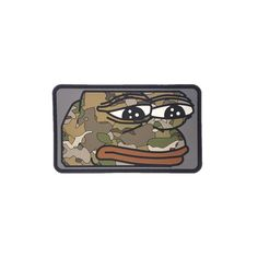 Custom patch by Velocity Patches. Pepe the frog being tacticool wearing some MulitCam.  Material: PVC  Size: 3x2  Velcro: Hook Velcro (Hard Pile)