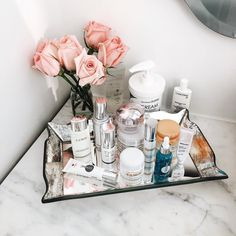 Currently in my bathroom counter at @thenomosoho. Sharing my super honest fashion week skincare routine on the blog. Some products I love some I kinda wish was better! Check it out! www.liketk.it/1LrwB #liketkit by songofstyle