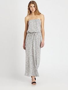 Soft Joie Cristabel Strapless Heathered Jersey Maxi Dress  looks so comfy