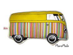 *Das ORIGINAL von MamaMade* Schönes Hippiebus-Wärmekissen mit Bio-Dinkel oder Bio-Kirschkernen. Ein trendiges Wellnessaccessoire! Bitte gib