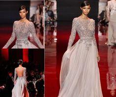 transparan görünümlü abiye elbise modeli