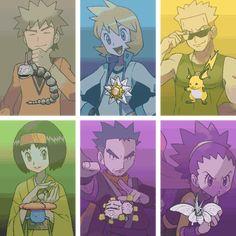 Os Líderes de Ginásio Pokemon