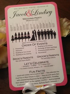 what to put on a wedding program - Google Search