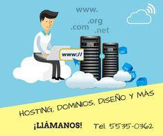 Hosting, dominios, diseño y mucho más. ¡Contáctanos!
