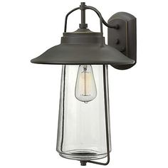 With clear glass and an oil rubbed bronze finish, the outdoor wall light is a vintage style with classic charm.