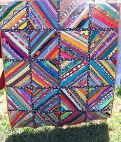 strip quilts free patterns | So – here it is. Quilt-as-you-go strip quilt, finished. (ok, except ...