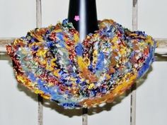 Loom knitted with ribbon yarn by Sherry Stoll. $29 with free shipping.