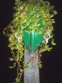 Upcycle: reciclagem de galões de plástico. African style head deco planter with plastic bottle