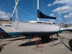 """1985 S2 28' """"Zephyrus"""" - S2 sailboats are recognized for their performance, distinctive styling, and quality craftsmanship. This 28 footer has everything you need to start your sailing experience and includes conditioned air which is rare on a boat of this age and size. She is not perfect but can be enjoyed as is or updated and personalized to suit your needs. She has some weak areas in the coach roof that will eventually need to be addressed. Price $15,000 Boats For Sale, Sailboats, Sailing Ships, Suit, Age, Canning, Sailing Yachts, Sailboat, Home Canning"""