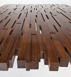 CUSTOM WOODEN TABLE BY STUDIO OLIVIER DOLLÉ | DESIGN OLIVIER DOLLÉ