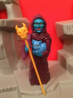 Haggar the Witch Action Figure from Voltron, w/ staff. 1984 by Panosh Place