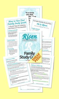 Teach the all-important Easter story to your kids! This easy-to-follow printable guide gives you EVERYTHING you need to successfully make Jesus' death & resurrection interesting and meaningful to your kids. Get the full Family Study Guide absolutely free–so you can share the most important event in the Bible with your kids at home. Family Bible Study, Bible Study Guide, Hands On Activities, Learning Activities, Scripture Memorization, Bible Games, Easter Story, Bible Lessons For Kids