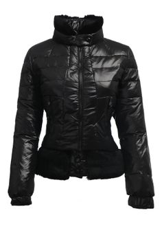 Womens Moncler Fashion Down Jacket Fur Collar Black [2900423] - £167.20 : 5% off discount code: happywinter