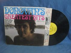 Vintage Donovan  Greatest Hits Vinyl LP Record by sweetleafvinyl