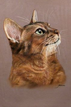 Such a beautiful painting of a cat