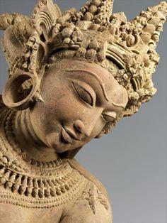 hinducosmos: Dancing Celestial Deity (Devata) Early 12th century, India Uttar Pradesh, Medium: Sandstone (via The Metropolitan Museum)