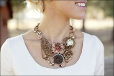 necklace w/ broaches