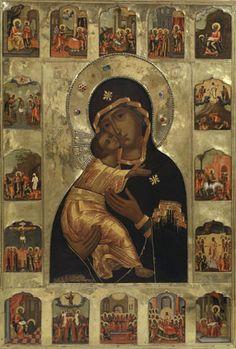 Загрузить увеличенное изображение. 300 x 444 px. Размер файла 57984 b. Икона Божией Матери Владимирская
