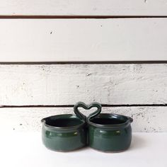 Ceramic double dip server | condiment caddy | vintage kitchen ware | green by LeroyBrownFurnishing on Etsy https://www.etsy.com/ca/listing/553638395/ceramic-double-dip-server-condiment